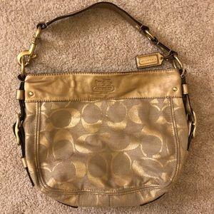 Coach Gold Detail Woven bag